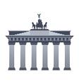 Brandenburg Gate in Berlin isolated vector image