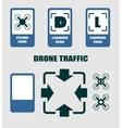 Drone quadrocopter traffic symbols vector image