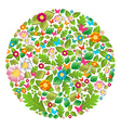 Floral spring and summer circle vector image