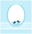 Invitation blue template vector image