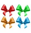 Polka dot bow vector image