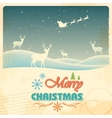 Reindeer in retro Christmas holiday background vector image