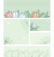 spring floral backgrounds vector image