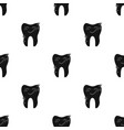 tooth with diamond icon in black style isolated on vector image