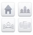white real estate app icon set Eps10 vector image
