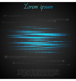 Shiny blue abstract stripes vector image vector image