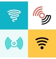 Wifi logo set Wifi zone vector image