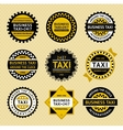 Taxi labels - vintage style vector image
