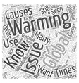 What You Should Know About Global Warming Word vector image