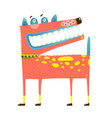 scary funny dog standing smiling smirking vector image
