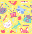 school seamless pattern for children vector image