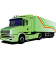 green lorry vector image
