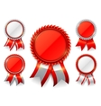 Red Award Medals vector image