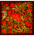 abstract summer red floral ornament on brown vector image