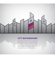 abstract silhouette city background with vector image