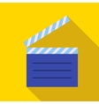 Movie clapper icon in flat style vector image
