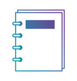 note book isolated icon vector image