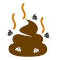 smell bullshit flat icon vector image