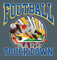 Touchdown football player vector image