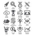 Business management icons Pack 28 vector image