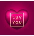 Love You Heart on Pink Background vector image