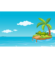 An alligator at the small island vector image vector image