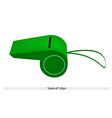 A Whistle of The State of Libya vector image vector image