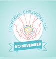 20 november universal childrens day vector image