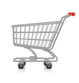 object shopping cart vector image vector image