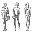 Fashion hand drawn vector image vector image