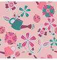 garden patterns background vector image vector image
