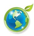 green globe vector image vector image