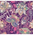 Bright seamless pattern in paisley style vector image