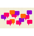 Speech bubbles background vector image