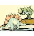 Hunting the Stegosaurus vector image vector image