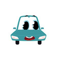 cartoon car character wih surprised human face vector image