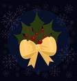 christmas leaves flat vector image