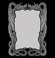 Dragons frame ornament A4 vector image