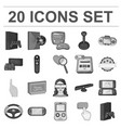 game console and virtual reality monochrome icons vector image