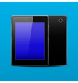 Tablet pc black vector image