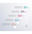 timeline infographic with numbers and triangles vector image