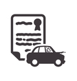 car insurance document design vector image