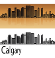 Calgary V2 skyline in orange vector image
