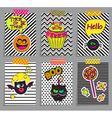 Set of stylish halloween cards vector image