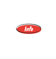 Info button vector image vector image