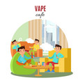 colorful vape cafe concept vector image