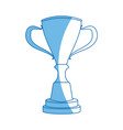 trophy winner competition award icon vector image