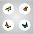 realistic checkerspot demophoon summer insect vector image