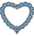 vintage ornamental heart shape Valentines Day card vector image