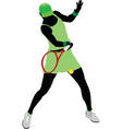 tennis player vector image vector image